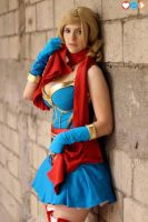 DC Bombshell Supergirl- Back against the wall by JFamily