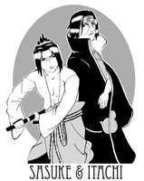 Naruto-- Brothers by Golden-Flute