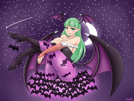 Morrigan Aensland by that-girl-whodraws