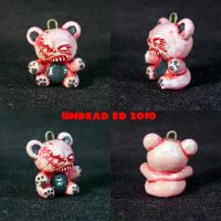 Demented Bear Charm ooak by Undead-Art