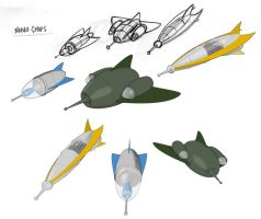 Cartoon Ships by Guile93
