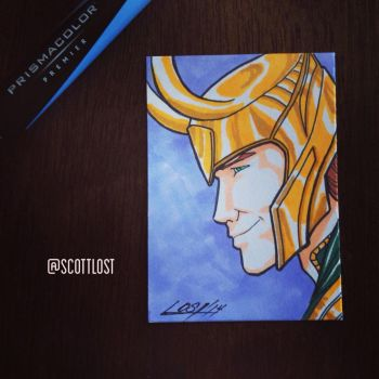 Loki sketchcard by Scott-Lost
