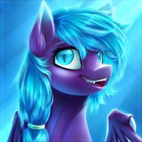 [COMMISH] Streaks of Blue by LillyCheese