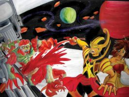 rama and sinta in space by Rud-K