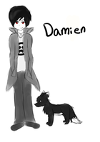 :FA: Damien Sketch by Alysaya