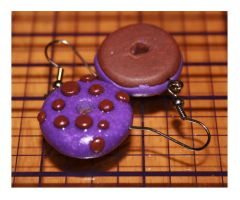 Funky Purple Polka Dot Donuts by bettenoir87