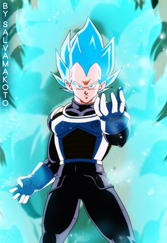 VEGETA- El super Saiyajin azul by salvamakoto