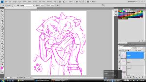 Justin and Kira -WIP- by AnarchyWolfKira