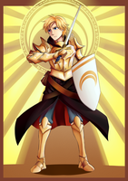 Knight of Golden Sun: Jaune Arc by ARSONicARTZ
