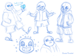 Sans Sketching by GosterMonster