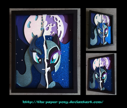 11x14 Darkside of a Luna Shadowbox by The-Paper-Pony