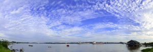 mahakam river scape by gegetlonely