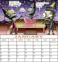 ZADR January calendar comp. by manicsfan