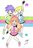 PowerPuff girls Z color by darkminako1