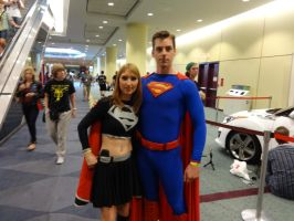 Fan Expo 2013 - Superman and Supergirl by jussicpark