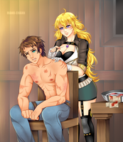 Commission: Roland and Yang by manu-chann