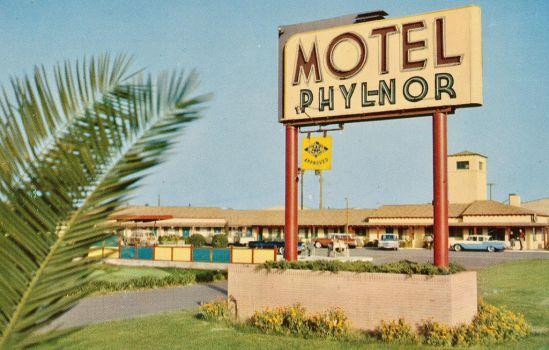 Vintage Motels - Phyl-Nor Motel, Modesto CA by Yesterdays-Paper