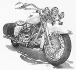 Harley Davidson Road King by ajgrier