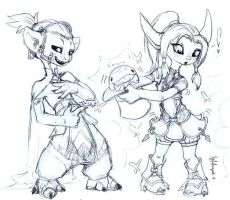 Asura Sketch: Aaxxi and Eizmi by Igfihorgih