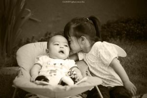 Kissing little brother by wociaocandy