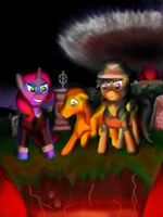 Daring Do and the Gates of Hell by Bhiggo