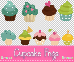 Cupcake Pngs by IloveCute1220