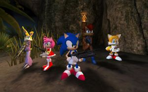 Sonic Freedom Fighters 3D Models UT2004 by tidelx
