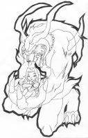 Chacharu and Ifrit by mandyclark