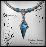 Precious Savage - unisex necklace aquamarine ver by Aedil