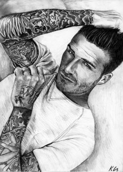 David Beckham by Csillipepper