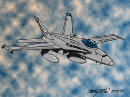 F-18C Hornet Remake by ND-2500