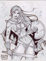 Red Sonja (#19) (PENCIL) by Rodel Martin by VMIFerrari