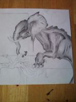 Elephant drawing by CourtesyOfHerDreams