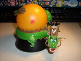 Dragonball Son-Goku Nightlight with Shenron by kratosisy