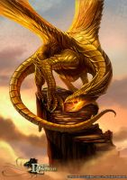 Dragon Chronicles - Golden Dragon by RobertCrescenzio