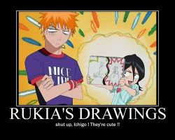 Motivator : Rukia's drawings by Y-Mangaka