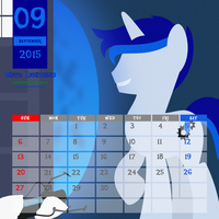 OC Calendar 2015 : September - Blitz Lightning by LimeDreaming