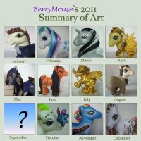 MLP Customs Year 2011 in review by BerryMouse
