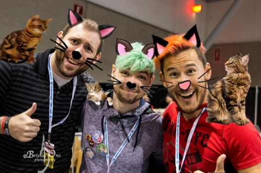 Wade, Jack, and Markiplier cats by mistylovesrocklee