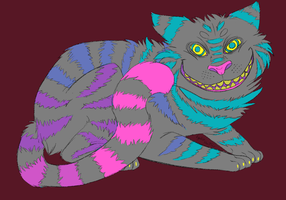 Cheshire cat colored by Lydia813