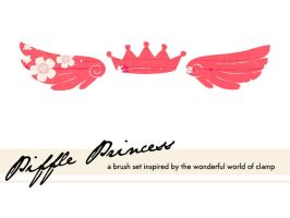 Piffle Princess Brush Set by NoirCat