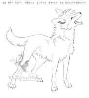 Yami Maned Wolf Sketch by WildSpiritWolf