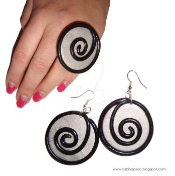 Spiral set by jewelryandstuff