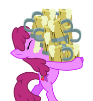 Berry Punch Carrying Pints of Apple Cider by ShadyHorseman