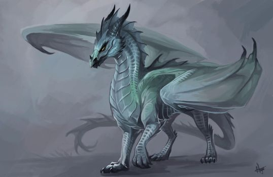 Winter dragoness by Allagar