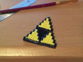 Pixelated Triforce ornament. by Angelix88