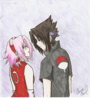 sasuke and sakura by DramaQueen14