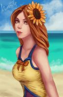 Leona The Goddess of the Sun by Massi74