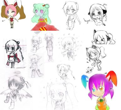 What I've Been Up To....+SKETCH DUMP+ by kurobara31694