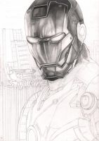 'Iron Man' WIP first stage by Pen-Tacular-Artist